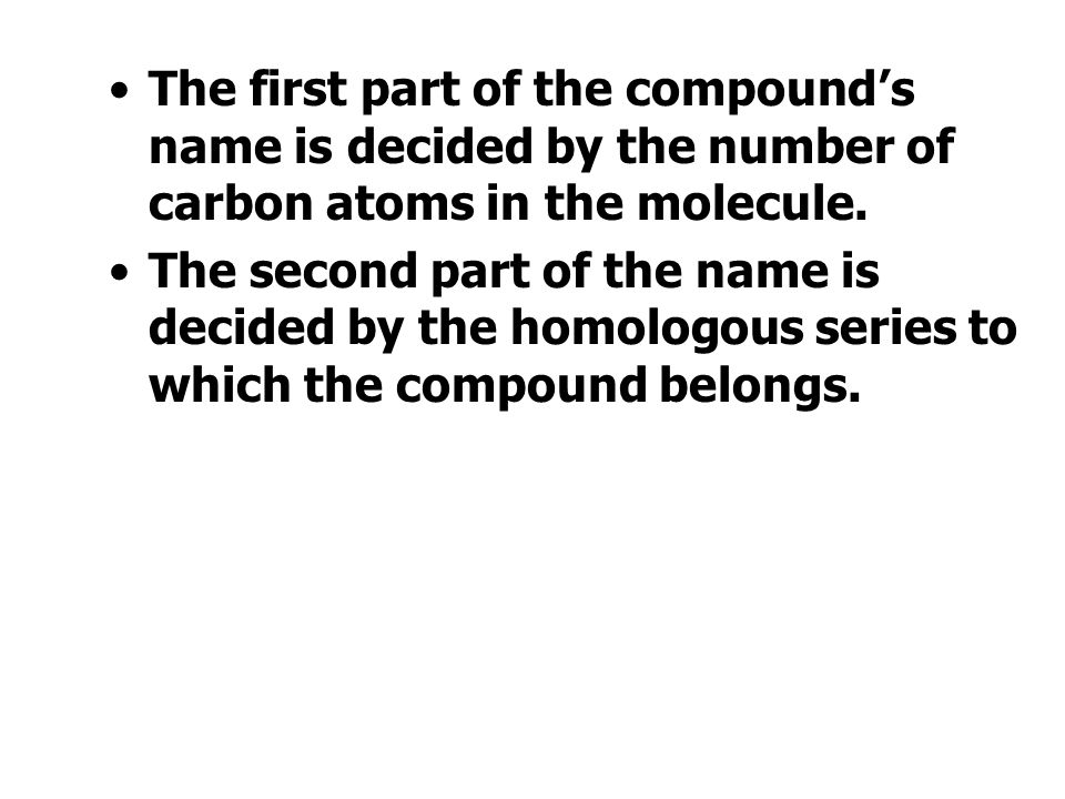 Functional Groups Functional Group Name of Group Homologous series CarbonylAlkanals (Aldehydes) CarbonylAlkanones (Ketones) CarboxylicAlkanoic acids A