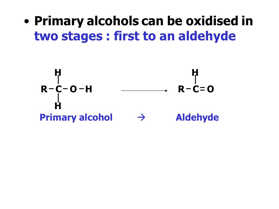 Oxidation Reactions The simplest oxidation reaction of alcohols is when they are burned in oxygen, giving carbon dioxide and water. Some alcohols can