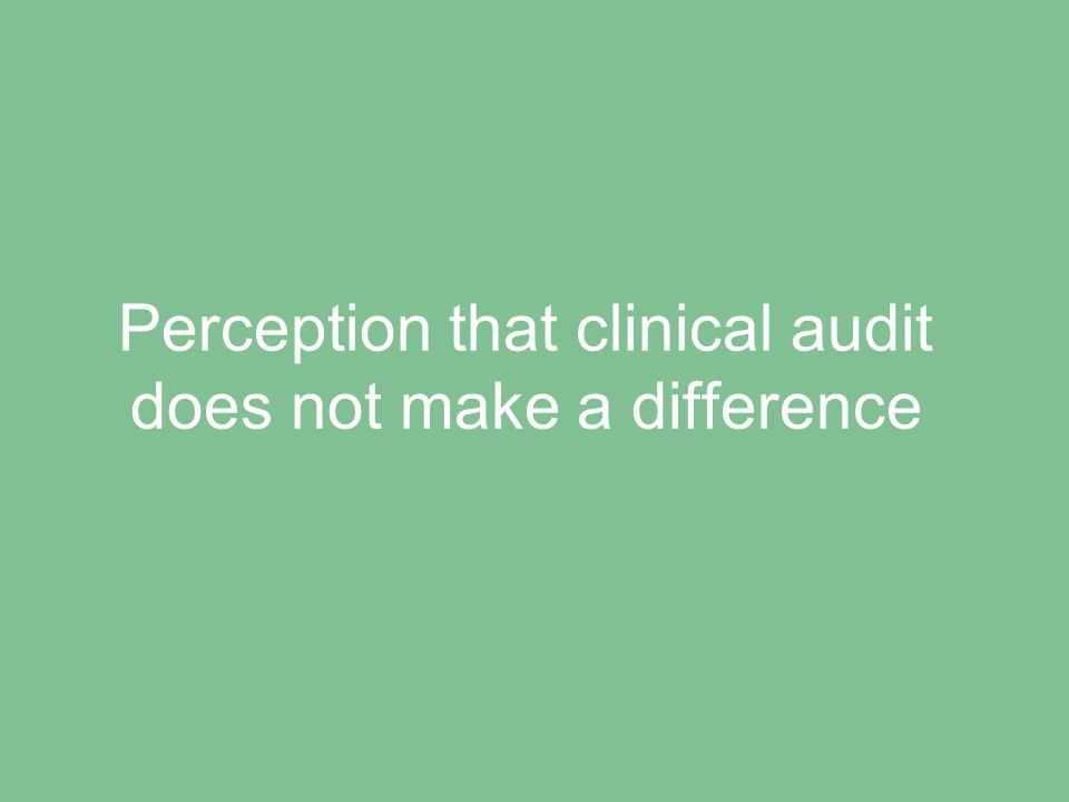 Difficulties in identifying appropriate topics to audit