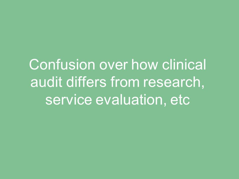 Lack of management support for clinical audit