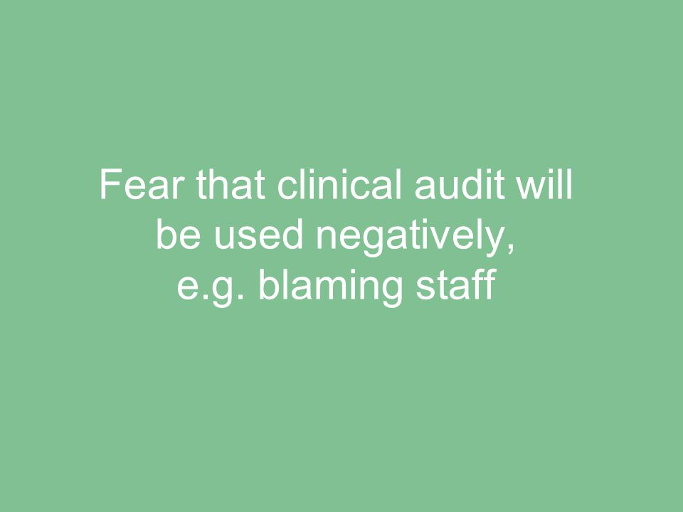 Perception that clinical audit is dull/boring
