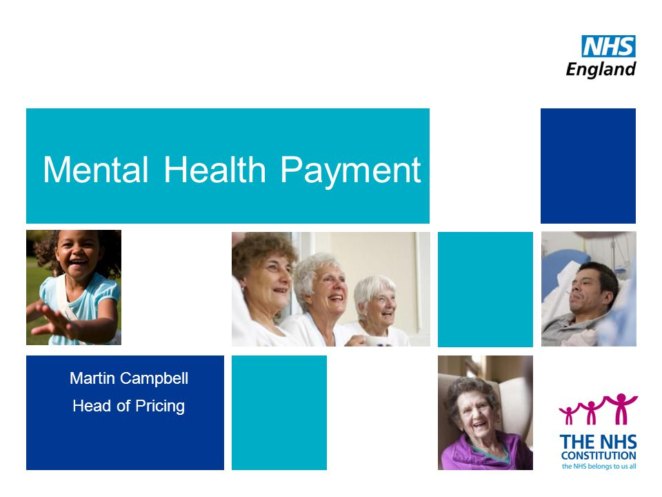 Mental Health Payment Martin Campbell Head of Pricing