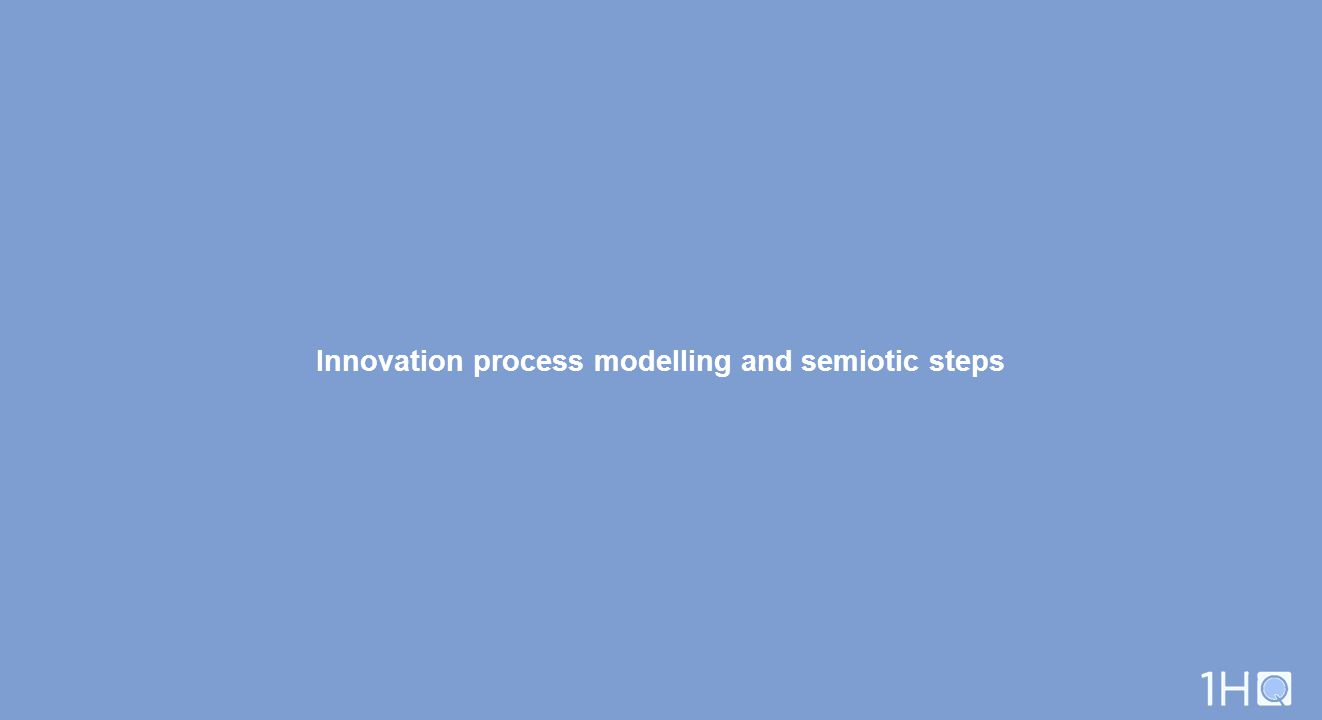 Innovation process modelling and semiotic steps