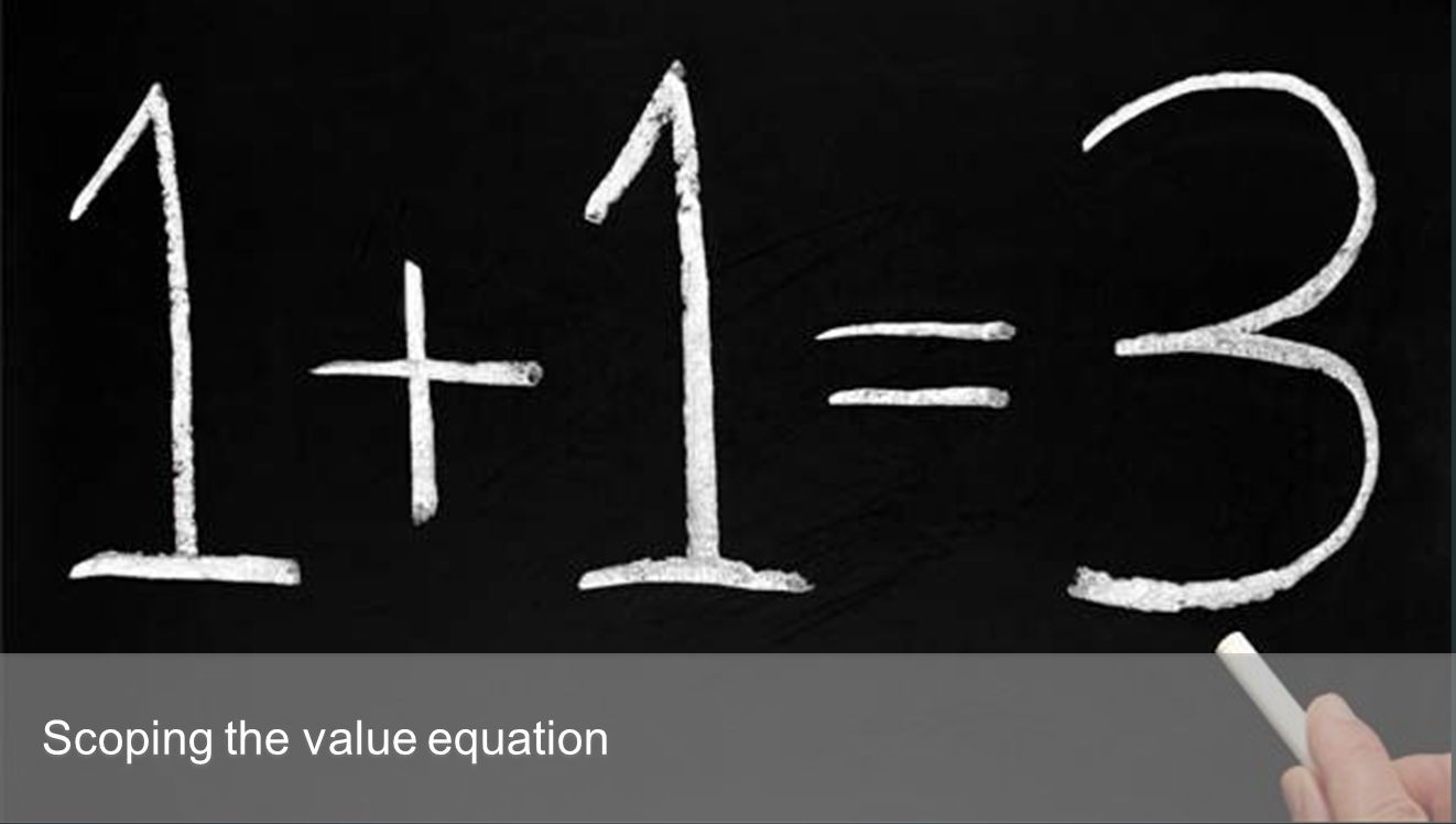Scoping the value equation