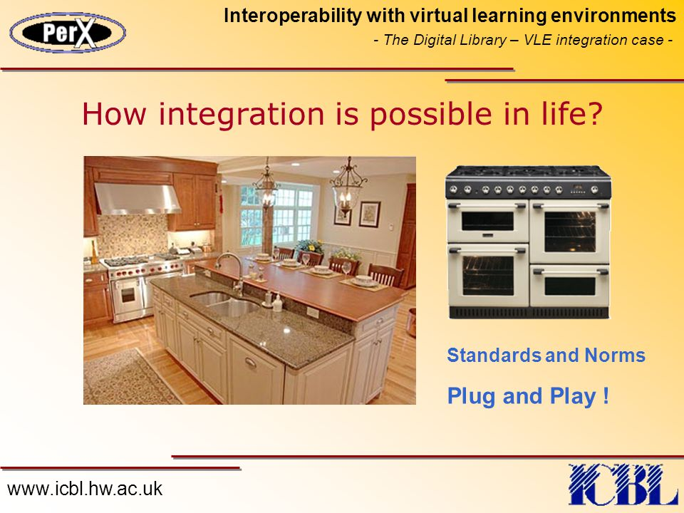 www.icbl.hw.ac.uk Interoperability with virtual learning environments - The Digital Library – VLE integration case - How integration is possible in life.