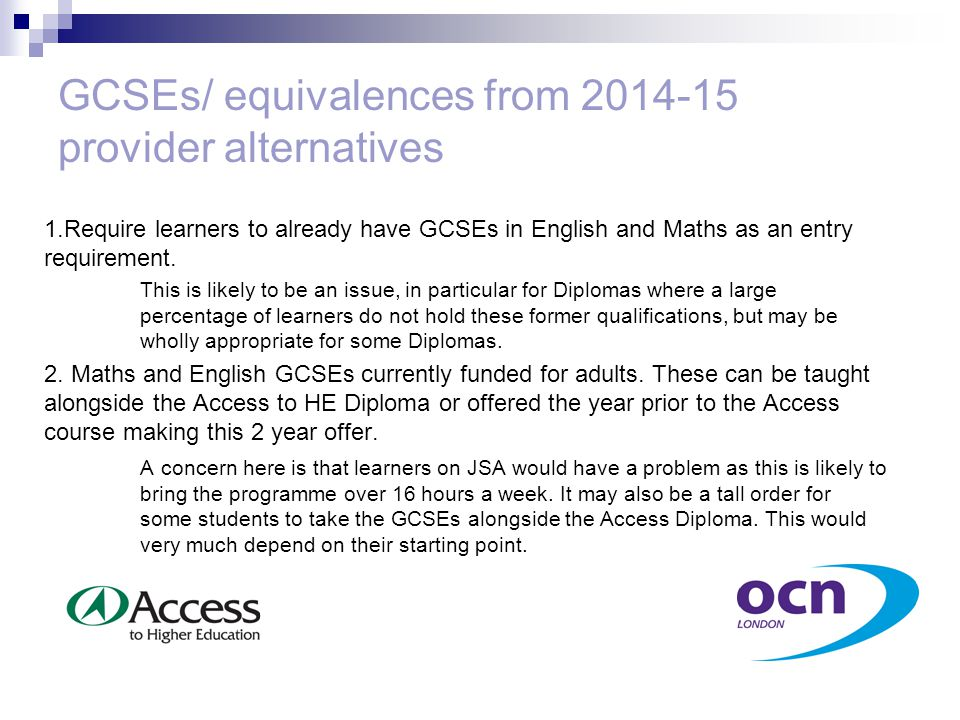 GCSEs/ equivalences from 2014-15 provider alternatives 3.