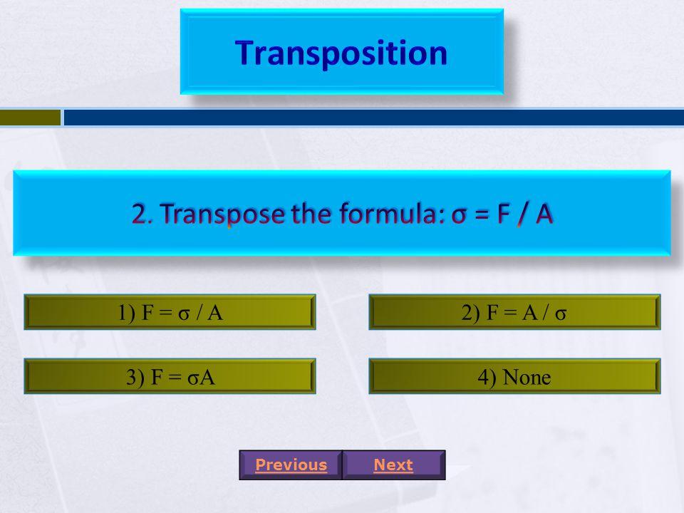 1) A / a + b2) a + b / 2A 3) A / 2a + 2b4) 2A / a + b PreviousNext