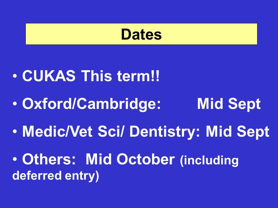 Dates CUKAS This term!.