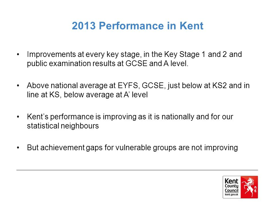 Early Years Foundation Stage In the EYFS 64% achieved a good level of development compared to 52% nationally.
