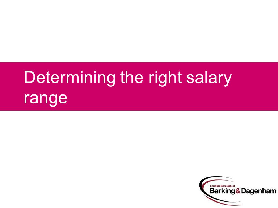 Determining the right salary range