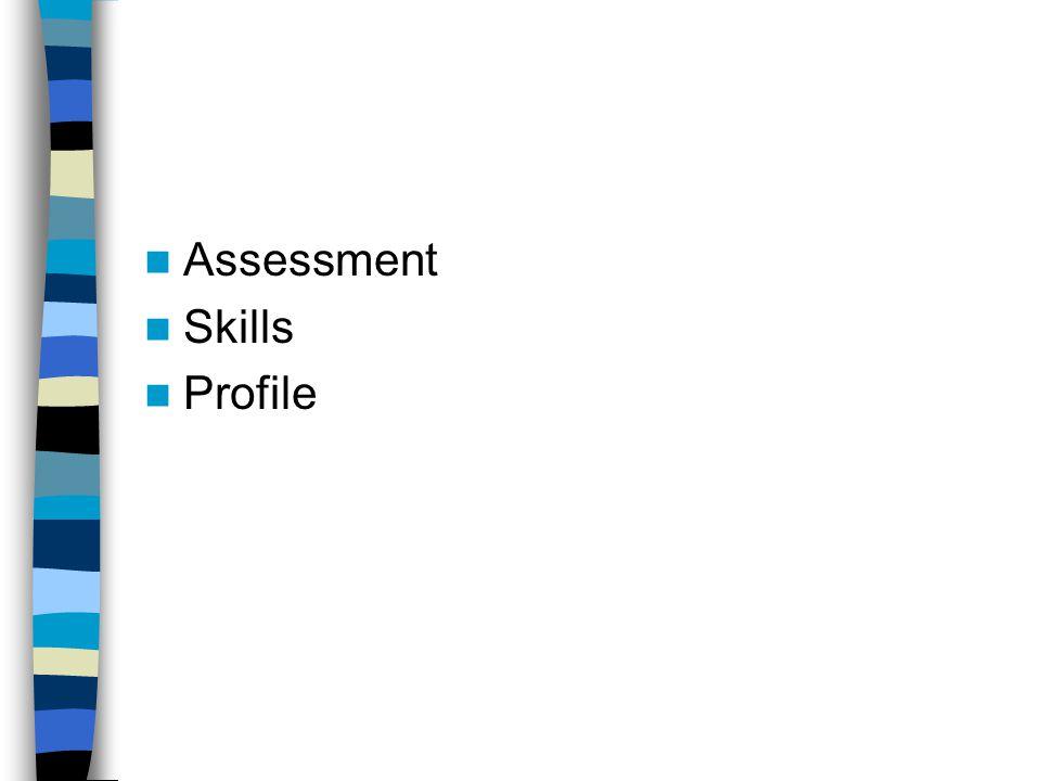 Assessment Skills Profile