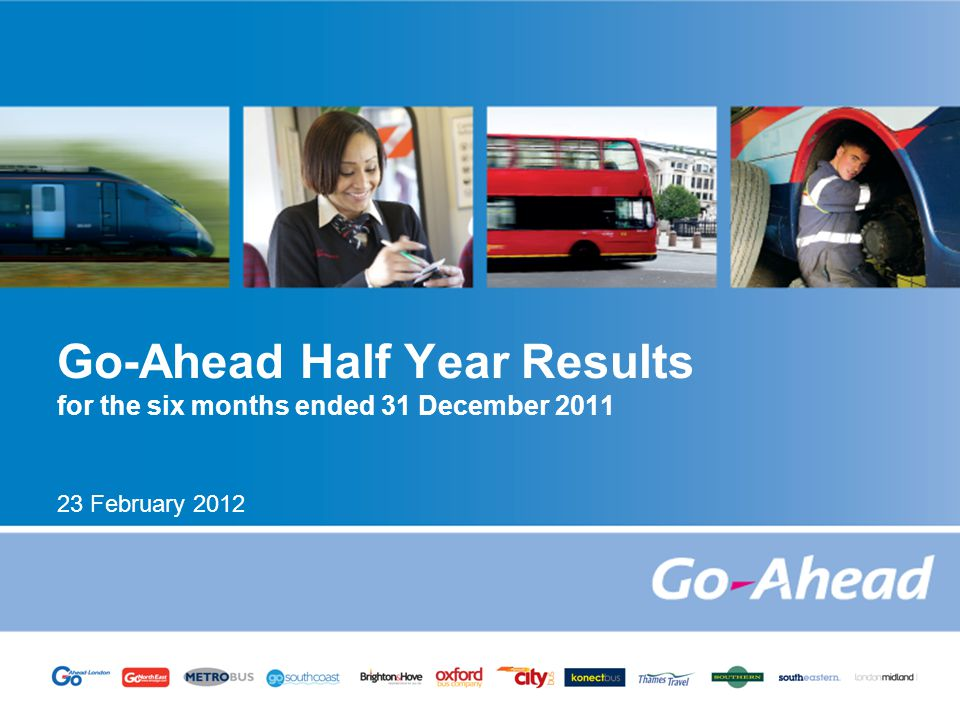 HALF YEAR RESULTS OVERVIEW Robust trading in the first half; results in line with management expectations Continued growth in bus volumes across all companies, helped by roll-out of smartcards Strong underlying rail performance with passenger journey growth in all franchises Underlying profit growth; previous first half included £9m of one-off rail contract management benefits Strong cash management and robust balance sheet Decrease in underlying net debt despite significant investment in new buses Maintained interim dividend at 25.5p Remain cautious about wider economic outlook 2