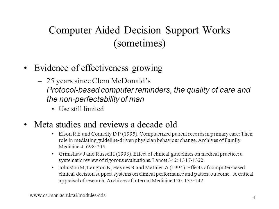 45 www.cs.man.ac.uk/ai/modules/cds Refined Model – Observation on Patient