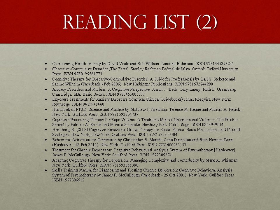 Reading List (2)