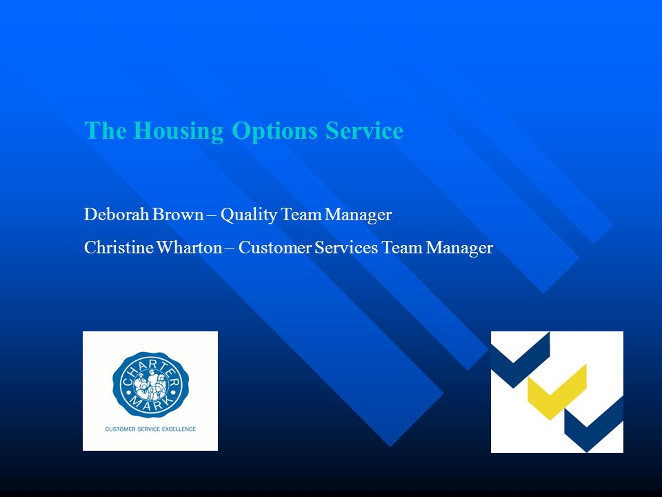 Presentation Aims Describe the role of the Housing Options Service 2006/07 in: Preventing Homelessness Promoting Housing Options Supporting Vulnerable People Improving standards in temporary accommodation
