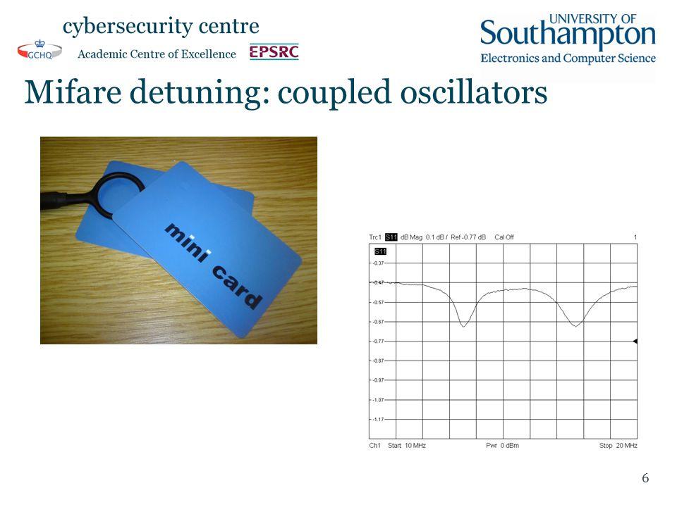 Mifare detuning: coupled oscillators 6
