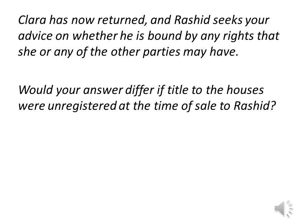 So, both Bina's lease and Alan's implied periodic tenancy are binding on Rashid.