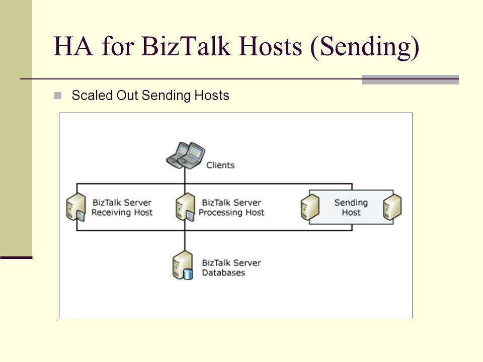 HA for BizTalk Hosts (Sending) Scaled Out Sending Hosts