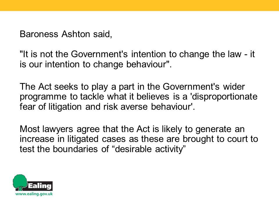 Baroness Ashton said,