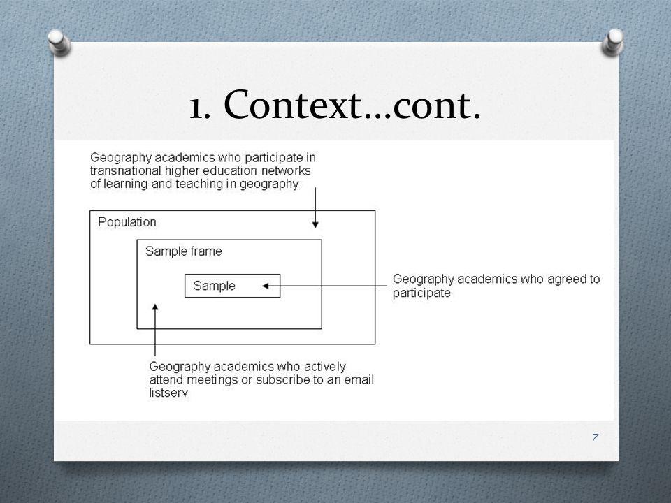 1. Context…cont. 7