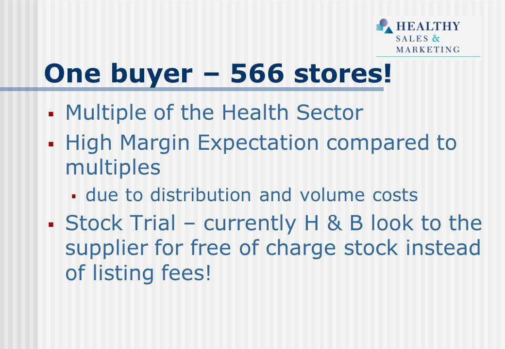 One buyer – 566 stores.