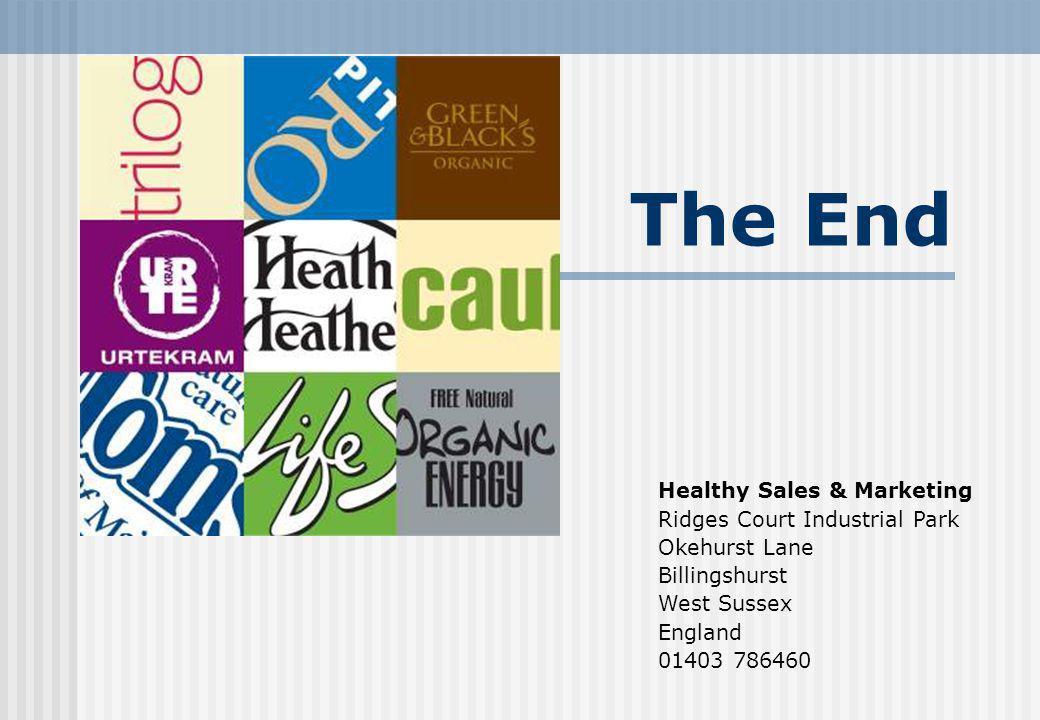 The End Healthy Sales & Marketing Ridges Court Industrial Park Okehurst Lane Billingshurst West Sussex England 01403 786460