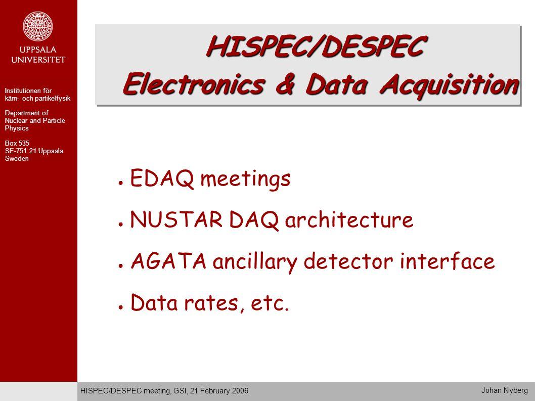 Possible Synergy ● EXL & (R3B) – DSSD –.1/.5 mm pitch – Si(Li) – 20mm – CsI Calorimeter –.