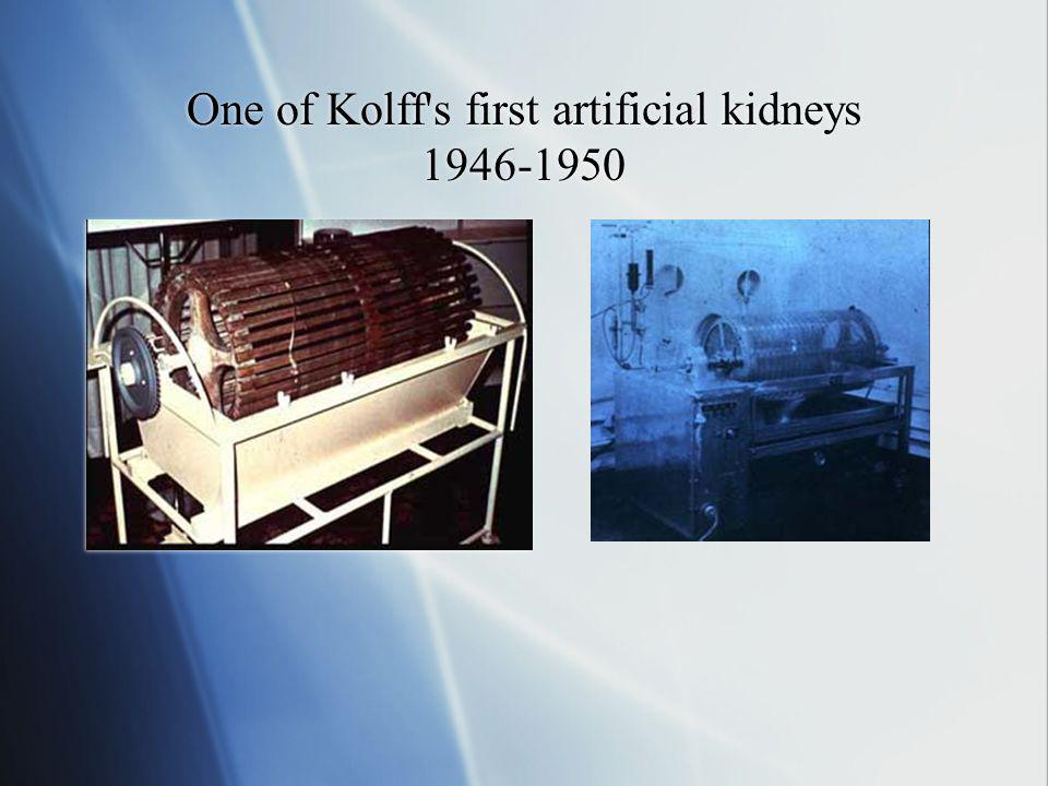 One of Kolff's first artificial kidneys 1946-1950