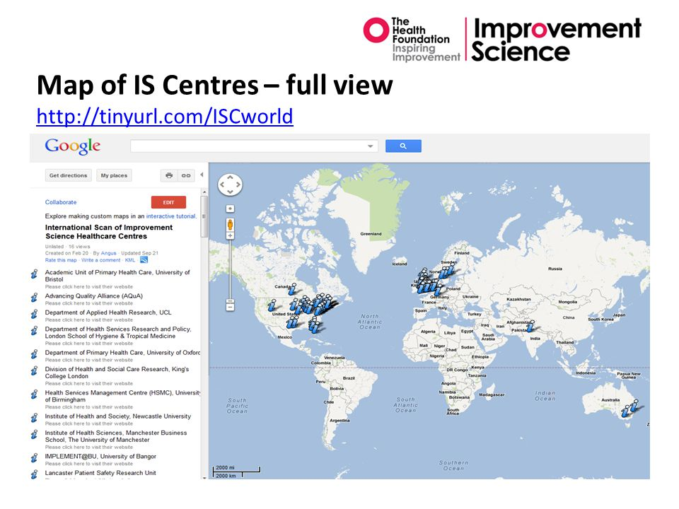 Map of IS Centres – full view http://tinyurl.com/ISCworld http://tinyurl.com/ISCworld