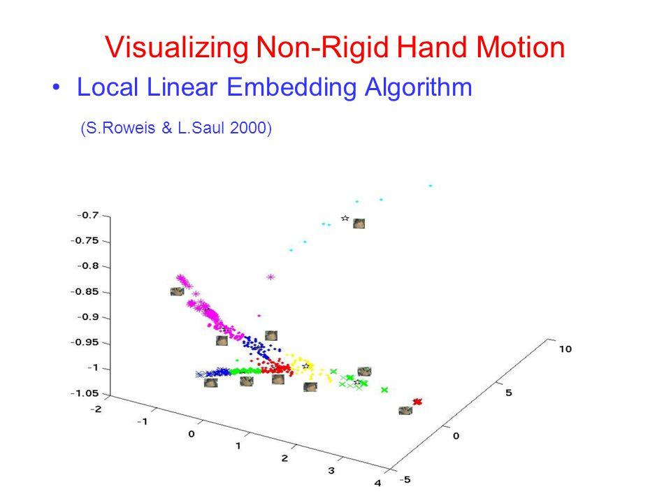 Visualizing Non-Rigid Hand Motion Local Linear Embedding Algorithm (S.Roweis & L.Saul 2000)