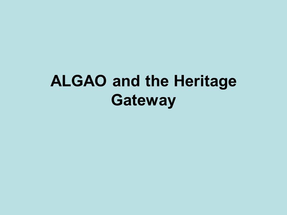 ALGAO and the Heritage Gateway