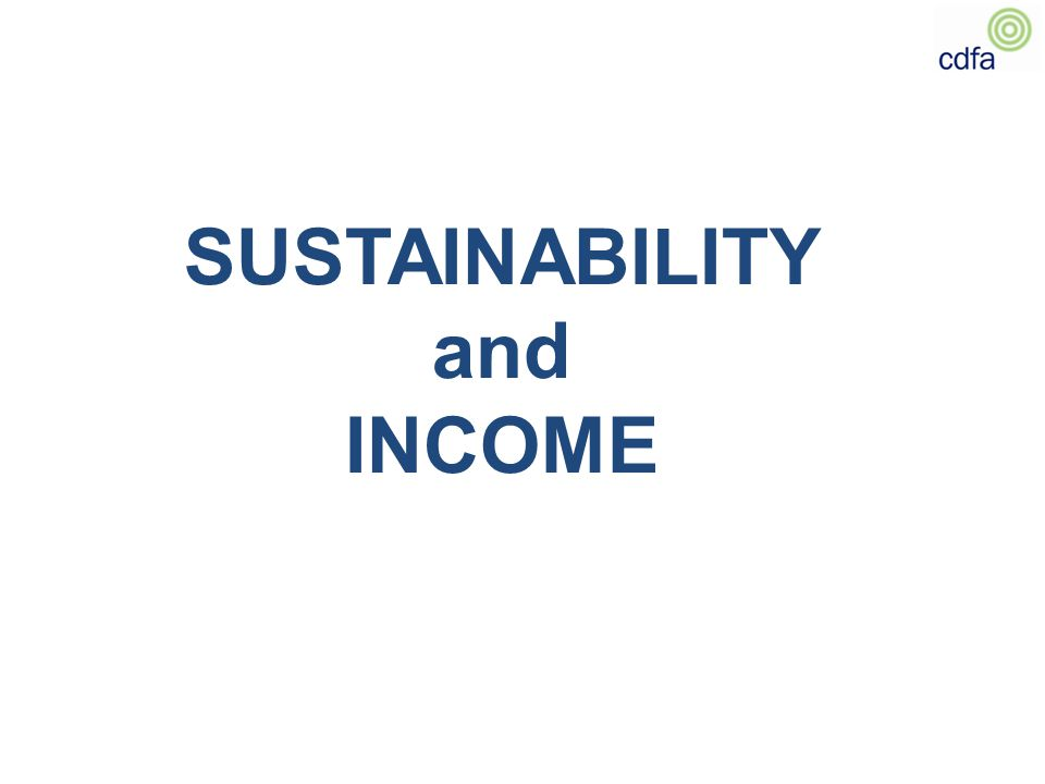 SUSTAINABILITY and INCOME