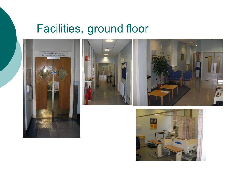 Facilities, ground floor