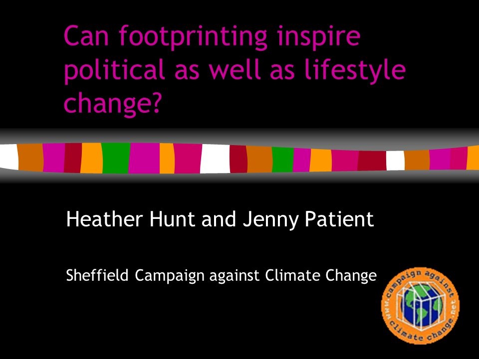 Can footprinting inspire political as well as lifestyle change.