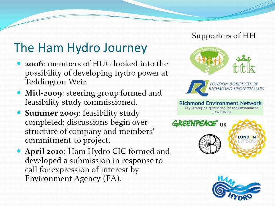 The Ham Hydro Journey 2006: members of HUG looked into the possibility of developing hydro power at Teddington Weir.