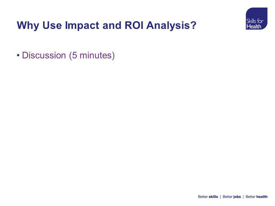 Why Use Impact and ROI Analysis Discussion (5 minutes)