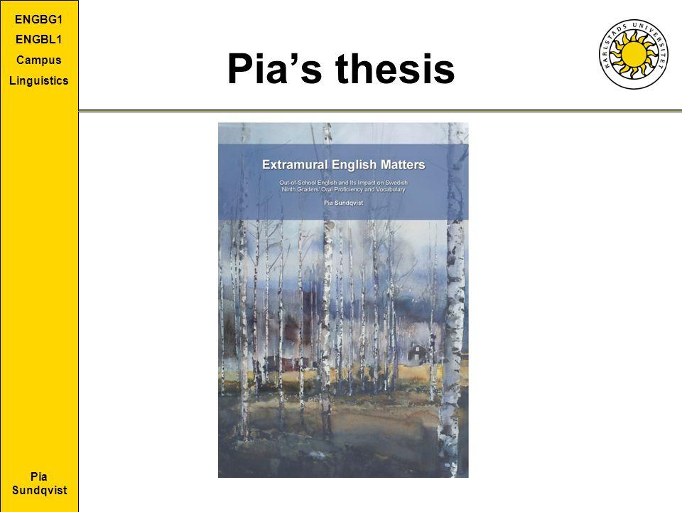 Pia Sundqvist ENGBG1 ENGBL1 Campus Linguistics Pia's thesis