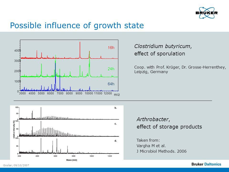 Goslar, 09/10/2007 Arthrobacter, effect of storage products Taken from: Vargha M et al.