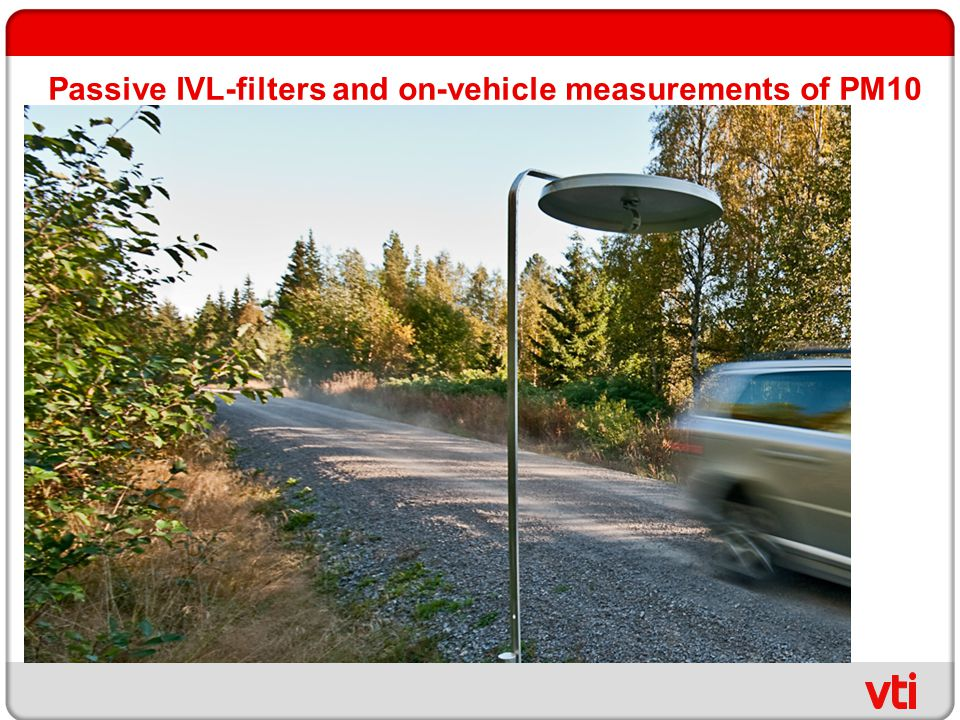 Passive IVL-filters and on-vehicle measurements of PM10