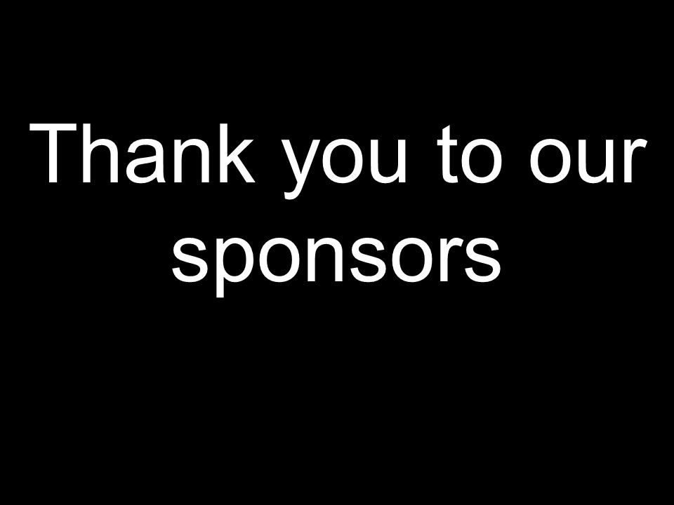 Thank you to our sponsors