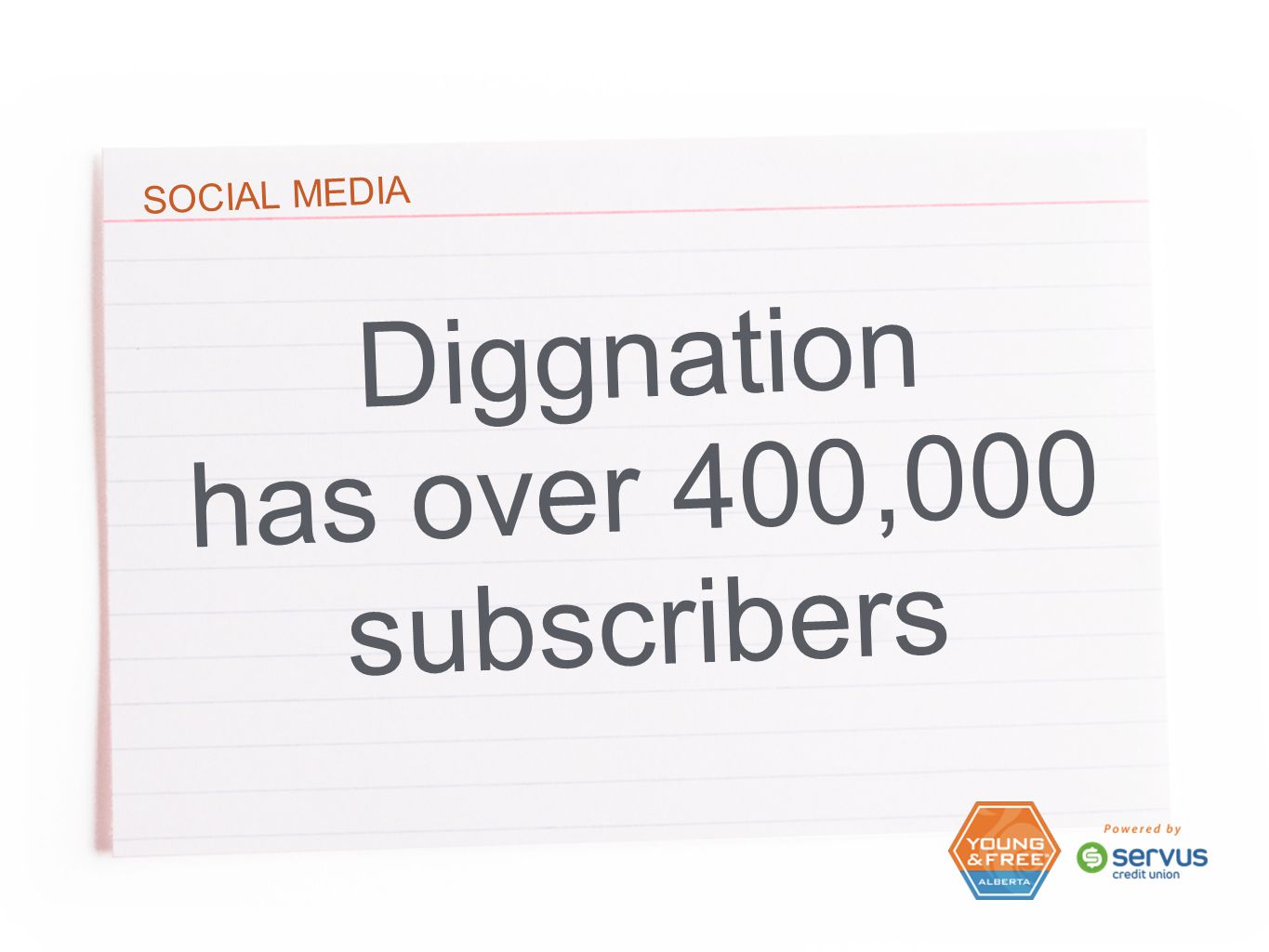 SOCIAL MEDIA Diggnation has over 400,000 subscribers