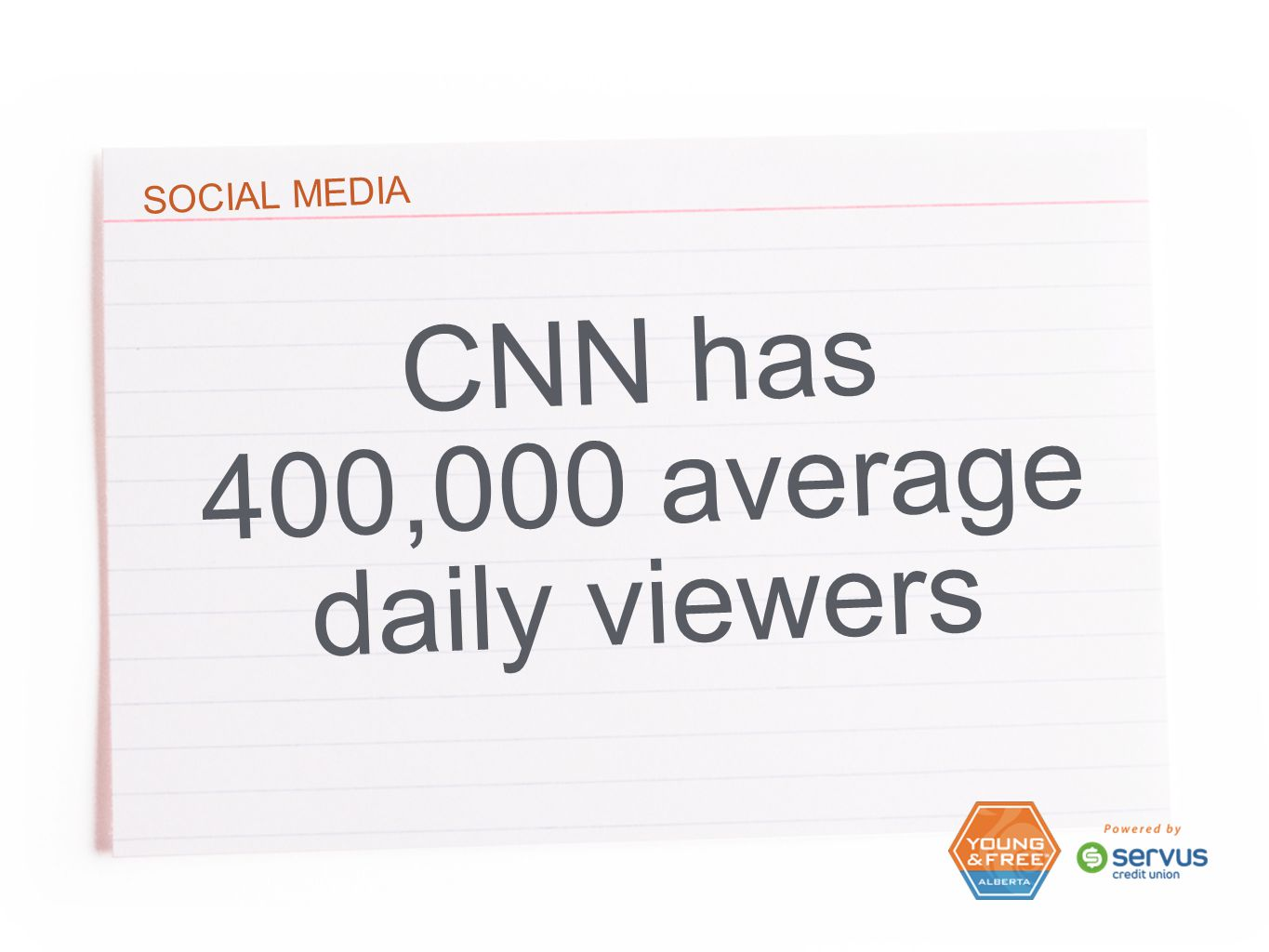 SOCIAL MEDIA CNN has 400,000 average daily viewers