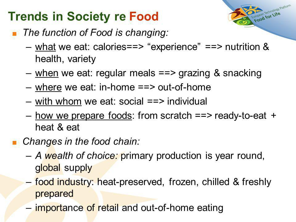 Be healthy for longer Be free from Health Problems Give Children a Good Start Consumer life goals re food