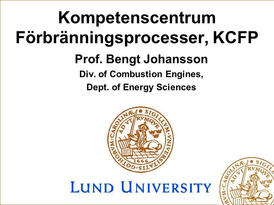 Kompetenscentrum Förbränningsprocesser, KCFP Prof.