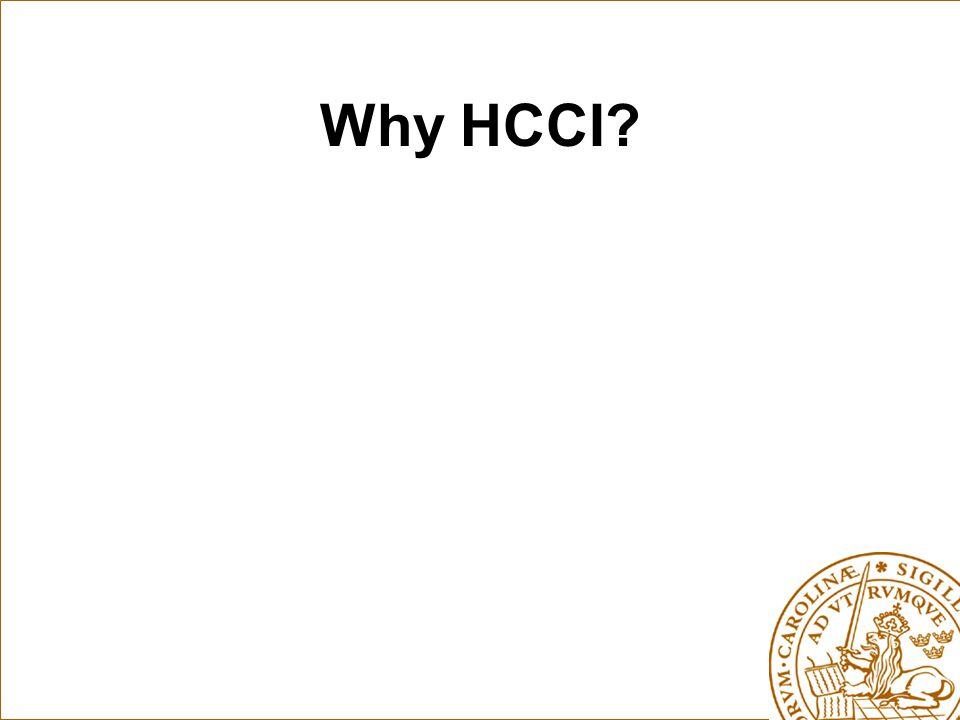 Why HCCI?