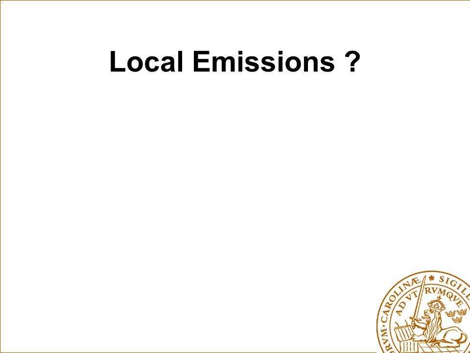 Local Emissions ?