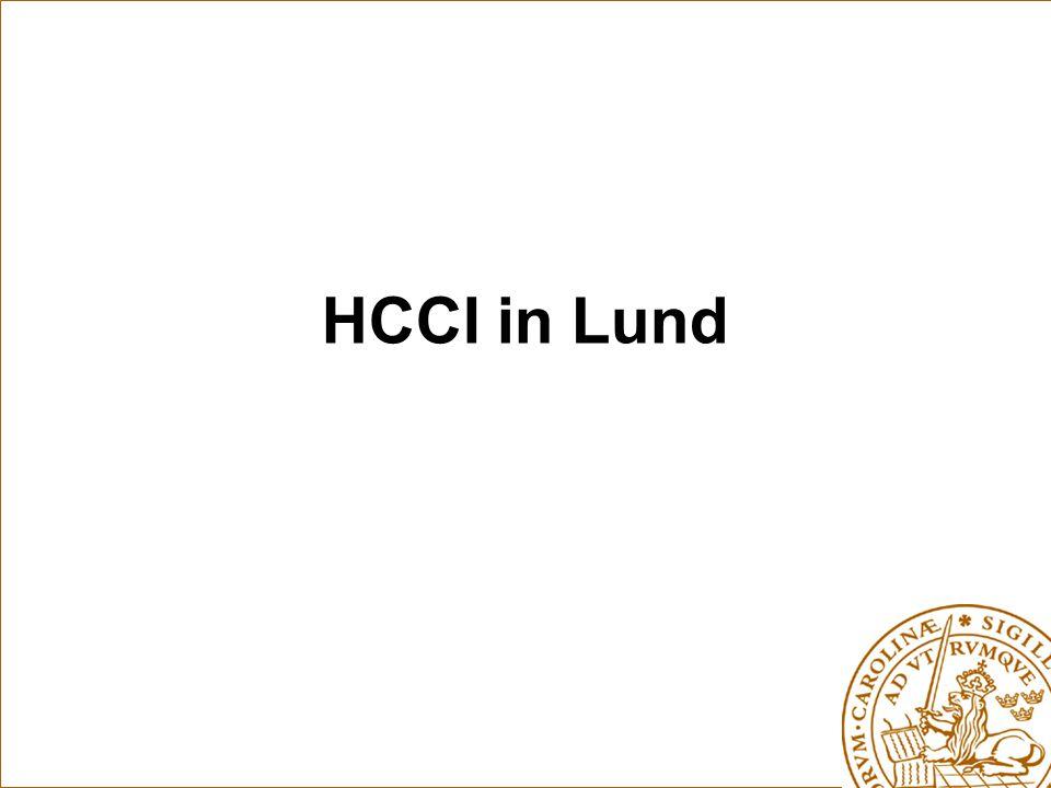 HCCI in Lund