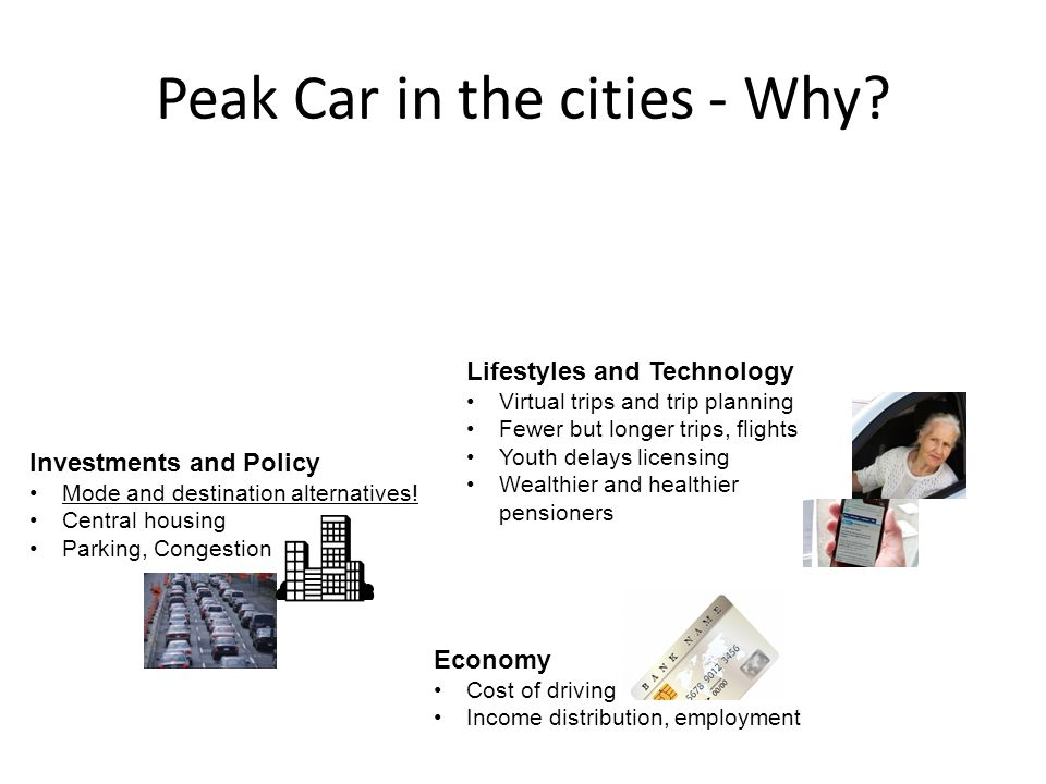Peak Car in the cities - Why.