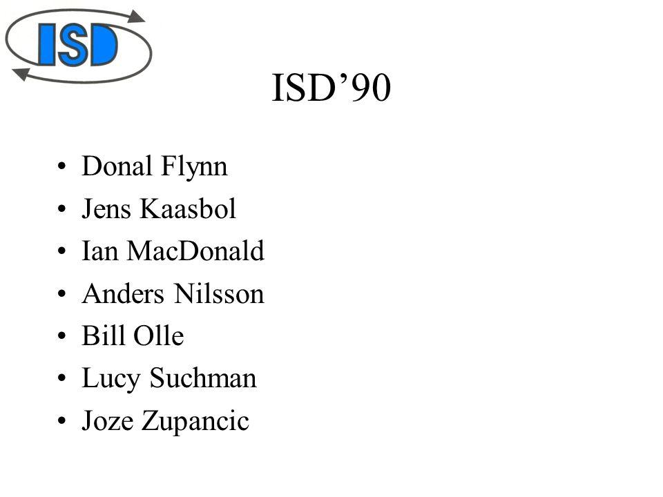 ISD'90 Donal Flynn Jens Kaasbol Ian MacDonald Anders Nilsson Bill Olle Lucy Suchman Joze Zupancic