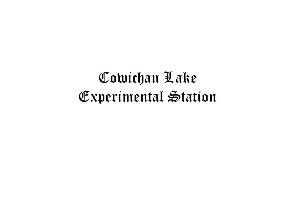 Cowichan Lake Experimental Station